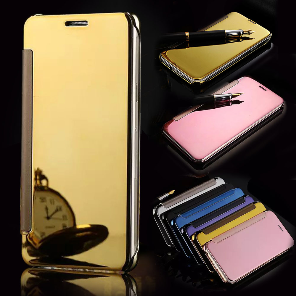Luxury mirror flip case for samsung galaxy s7 gadgets house for Housse telephone samsung galaxy note 3