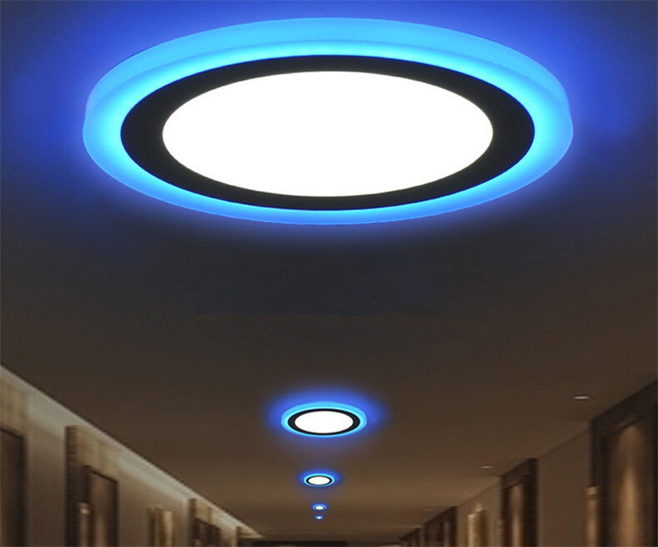 indoor two color round led panel light gadgets house. Black Bedroom Furniture Sets. Home Design Ideas