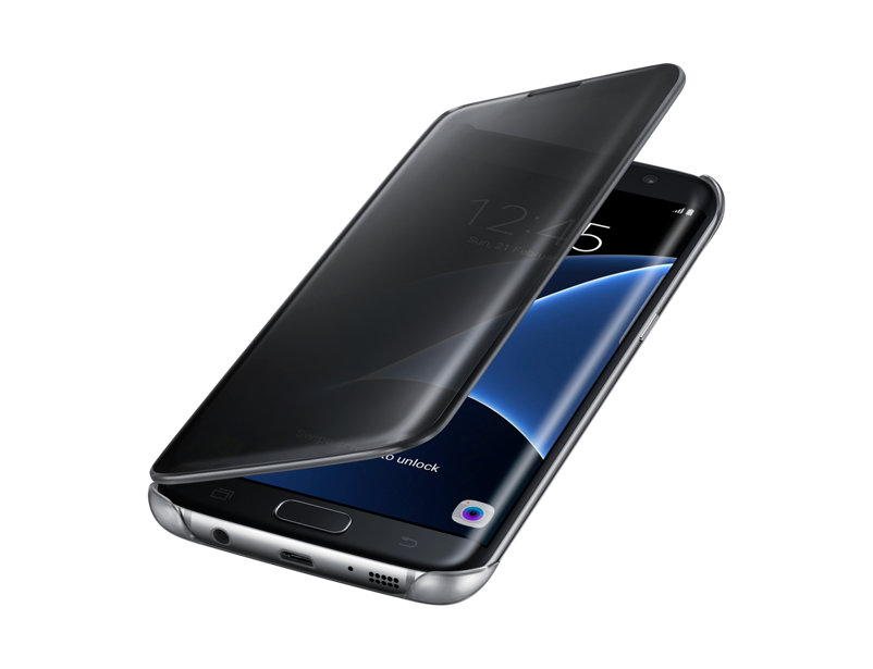 new product 089a1 afe28 Clear View Standing Case for Samsung Galaxy A7 2017 A720 Black
