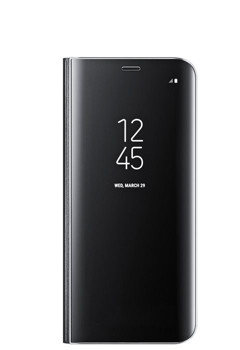 online retailer b5318 a234a Clear View Standing Case for Samsung Galaxy S8 Plus Black