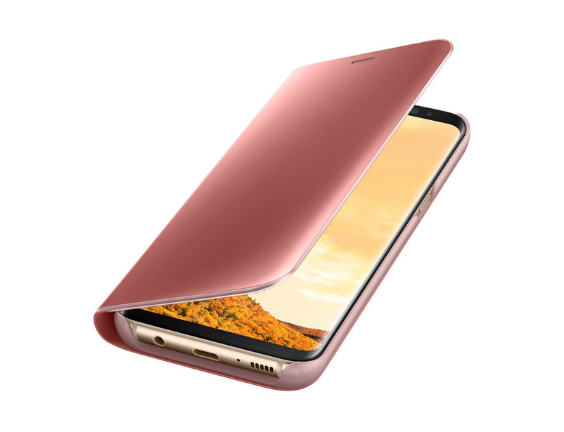 the latest f0ee1 a2160 Clear View Standing Case for Samsung Galaxy A5 2017 A520 Pink