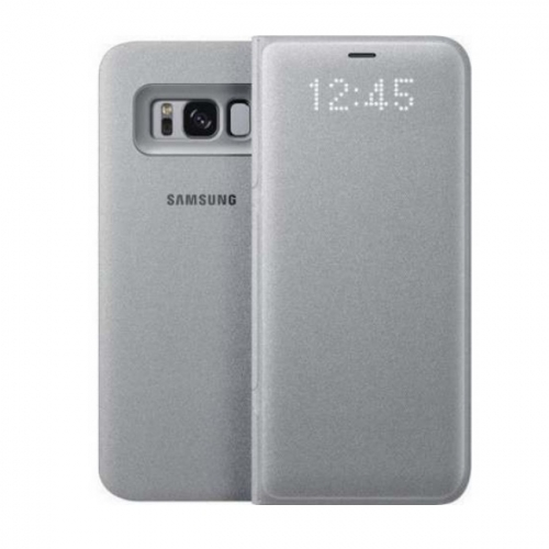 info for 0ce45 59386 LED View Case for Samsung Galaxy S8 Plus G955F EF-NG955PSEGWW Silver  ORIGINAL