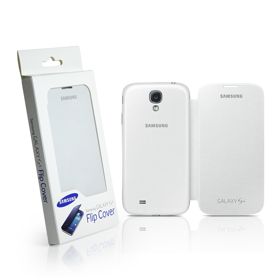 reputable site 81e84 cef75 Original Samsung Galaxy S4 I9500 Flip Cover - White
