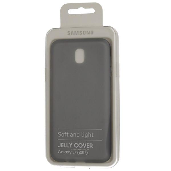 official photos 9c32e 8dbbf JELLY Cover for Samsung Galaxy J7 2017 J730 EF-AJ730TBEGWW BLACK ORIGINAL