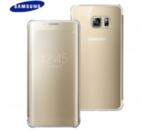 best website b869d 1dbf7 CLEAR VIEW Cover for Samsung Galaxy S7 EDGE G935 EF-ZG935CFEGWW GOLD  ORIGINAL