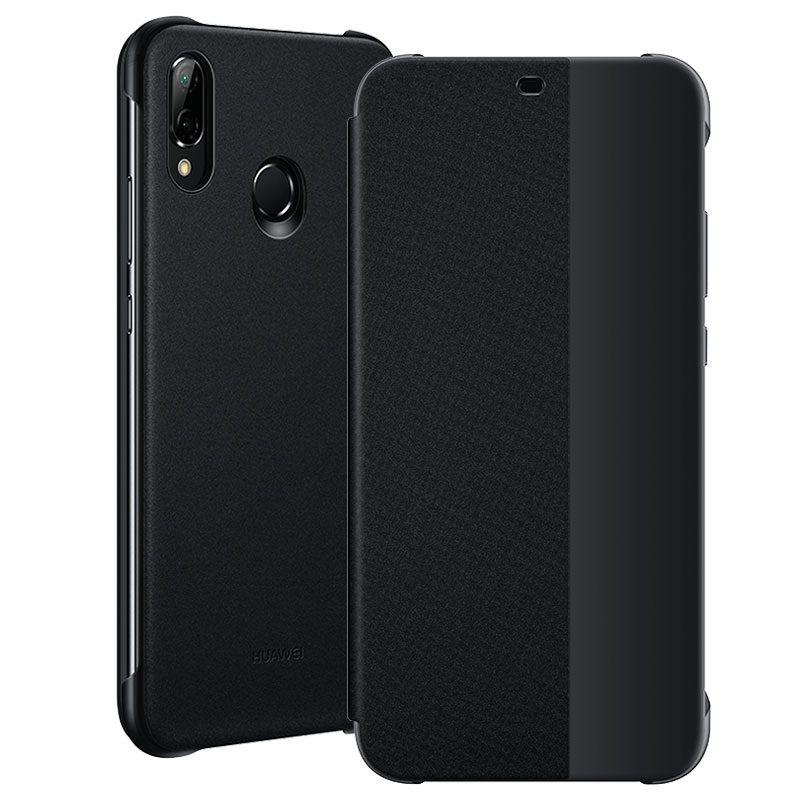 huge discount 46dcb 6ed0c Smart View Flip Cover Case for HUAWEI P20 Lite 51992313 Black ORIGINAL